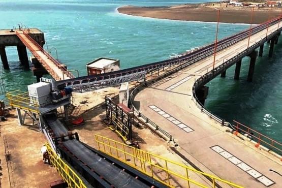 El Puerto de Punta Loyola donde embarcan el crudo.
