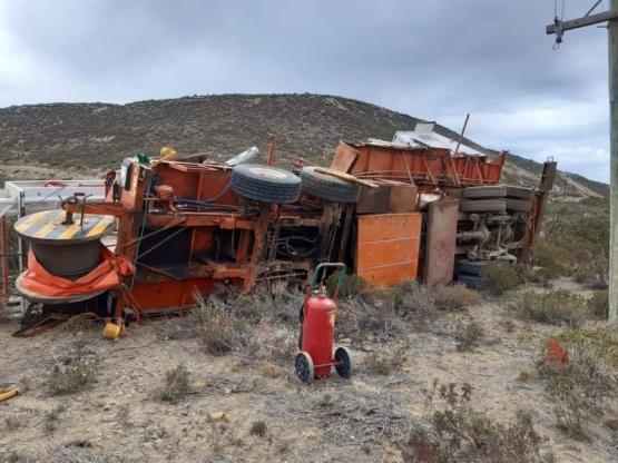 Accidente en un equipo petrolero.