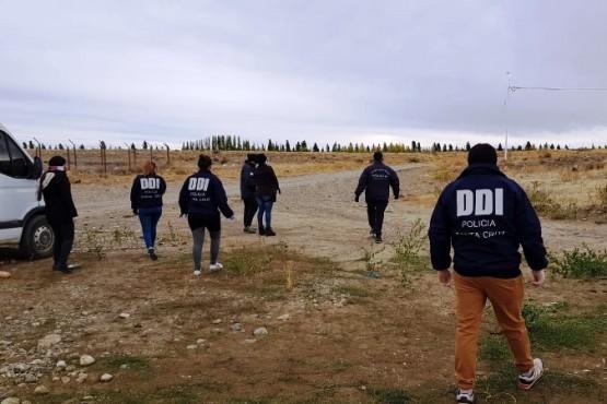 El personal de la DDI estuvo a cargo de los rastrillajes.