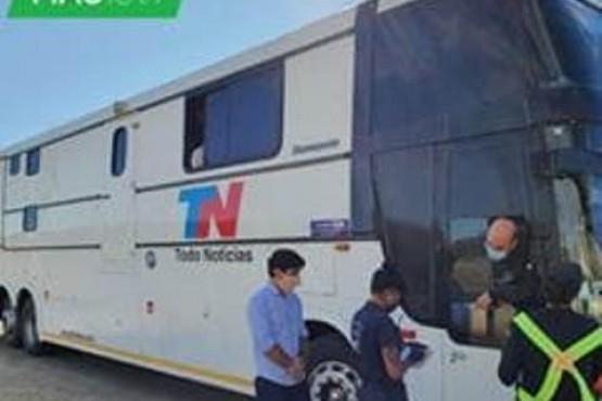 TN Noticias estuvo en Madryn y llegarían por el sur hasta Santa Cruz