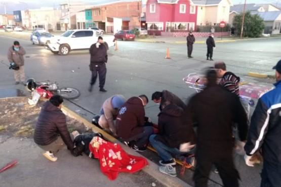 Dos hombres hospitalizados tras fuerte choque (Foto: C.G)