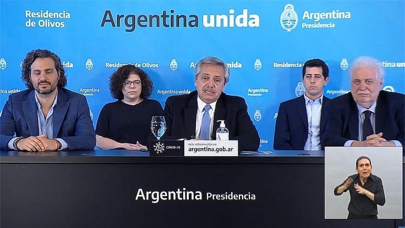 Anuncio de Alberto Fernández.
