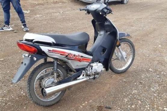 La moto robada.