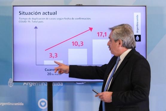 Alberto Fernández explicó la situación sanitaria en el país.
