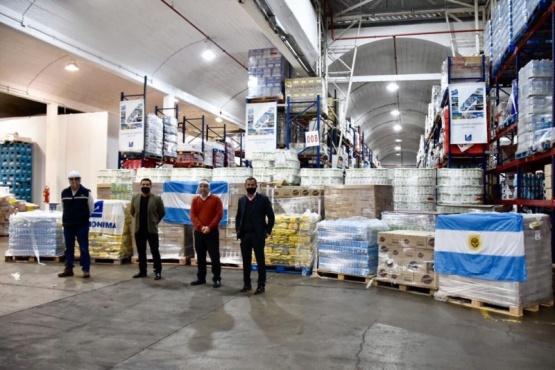 La Anónima donó 15 toneladas de alimentos para ser distribuidos por el Municipio