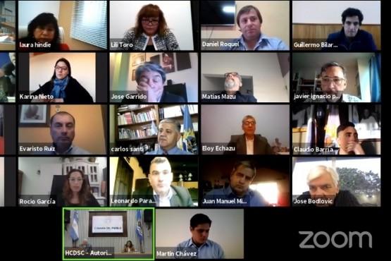 La sesión extraordinaria volvió a realizarse mediante la plataforma Zoom.