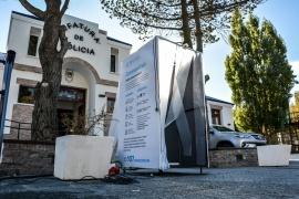 Instalan cabina de desinfección en Jefatura de Policía