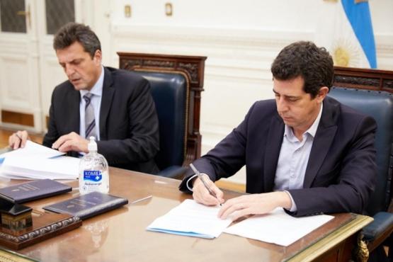 Wado de Pedro y Massa firmaron convenio para identificación digital de Diputados en sesiones virtuales
