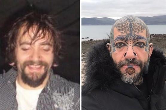 Un hombre quedó irreconocible tras gastar 12 mil dólares en piercings y tatuajes