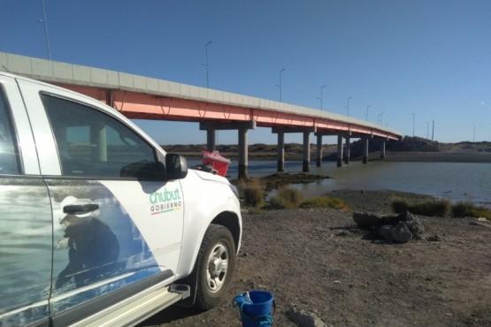 Monitoreo de la calidad del río Chubut.