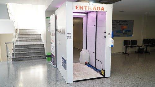No está probada la eficacia de cabinas sanitizantes