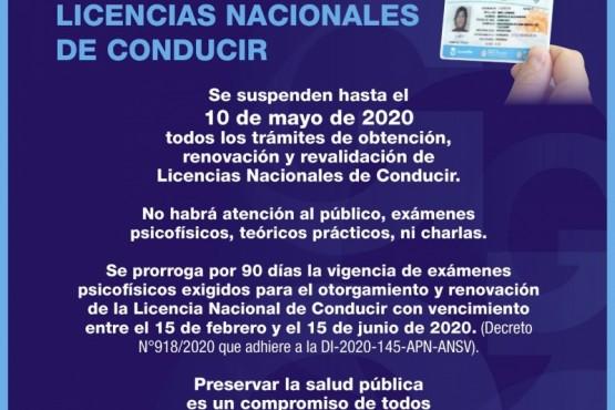 Obtención, renovación y revalidación de licencias nacionales de conducir