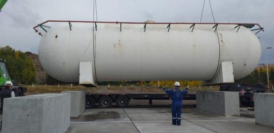 Avanza la tarea de almacenamiento de gas en Los Antiguos
