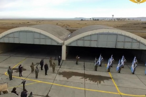 El acto en la Base Aérea Militar.