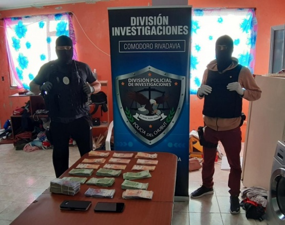 Allanamiento por robo millonario en Comodoro