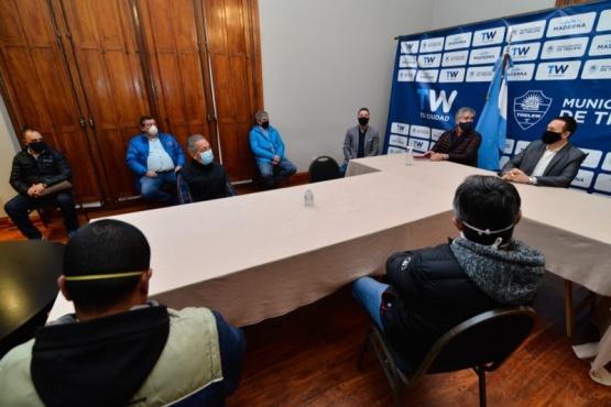 Maderna se reunió con trabajadores y empresarios textiles