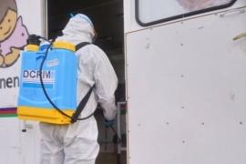 Se llevaron a cabo tareas de desinfección en 28 de Noviembre y Río Turbio