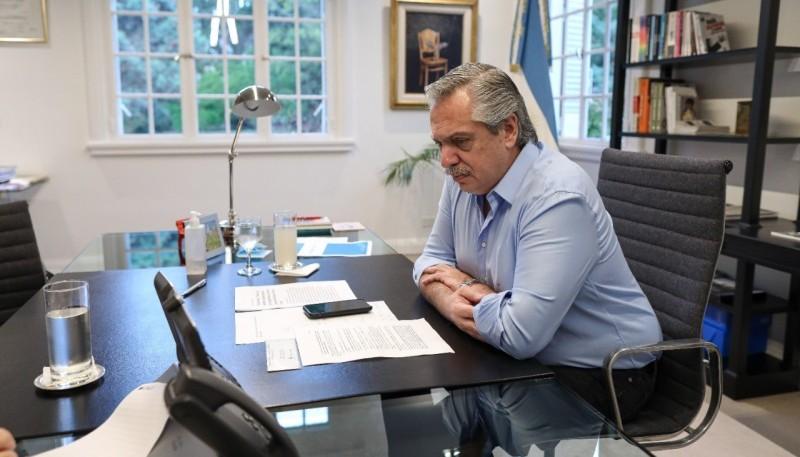 Alberto Fernández mantuvo una comunicación con su par italiano Giuseppe Conte