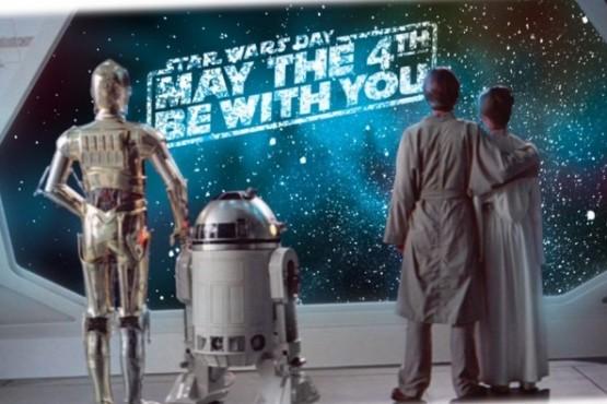 Porque el cuatro de mayo se celebra el día internacional de Star Wars