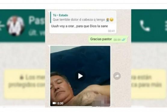 Un pastor ofreció ayudar a su vecina y este le envió un video porno