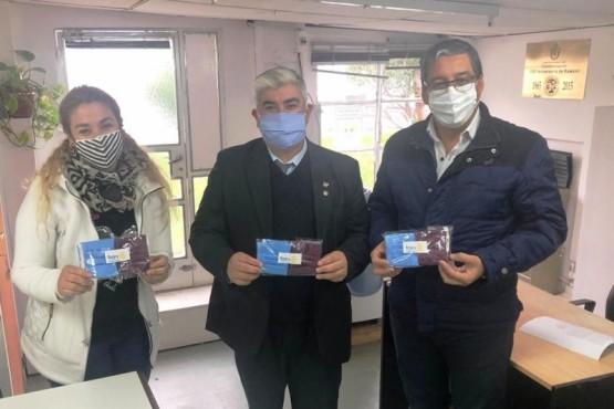 Municipio agradeció al Rotary Club la donación de 100 barbijos