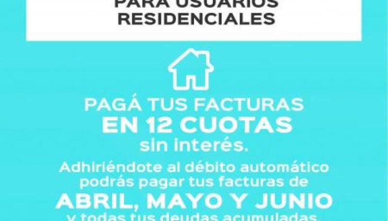 Servicios públicos ofrece planes de pago para residenciales, comerciales y/o industriales