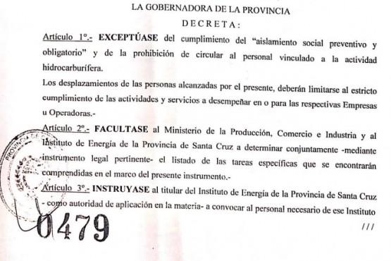 Se firmó el decreto 479/20