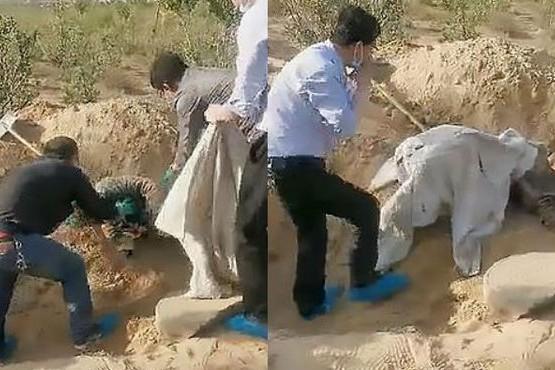 Rescataron a una anciana que fue enterrada viva por su hijo