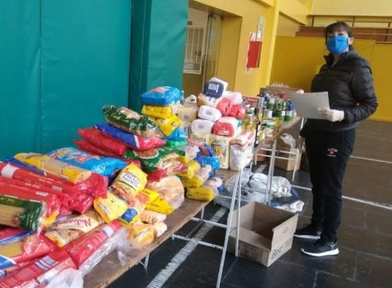 Parte de los alimentos recolectados.