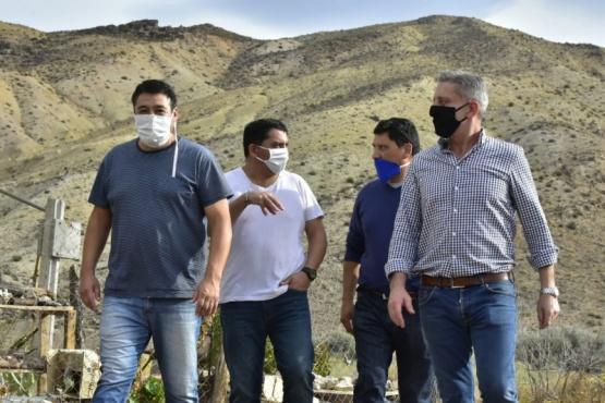 Arcioni visitó Gualjaina, Paso del Sapo y Cerro Cóndor.