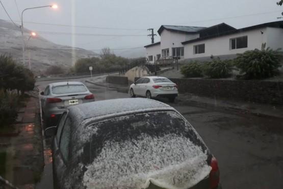 El frío se llegó a la Cuenca y cayó con aguanieve
