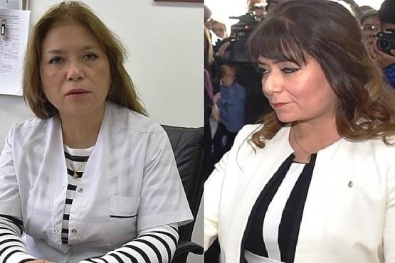 Patricia y Angélica Zari, ex directora del Hospital y ex Jueza de Caleta Olivia.