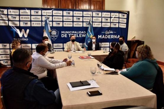 Maderna se reunió con los gremios municipales