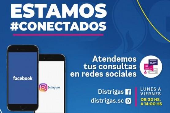 Distrigas S.A. responde consultas a través de sus redes sociales