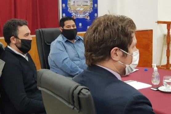 Robles ayer en la Comisión de Presupuesto del Concejo Deliberante.