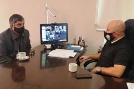 Aguilera se reunió con el intendente de Puerto Madryn
