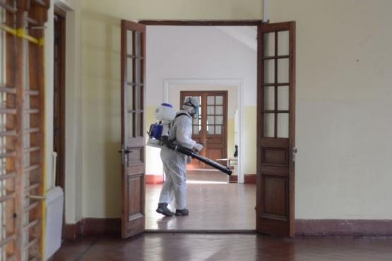 Desinfección en colegios.