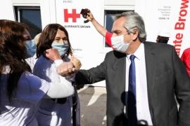 El Presidente recorrió el nuevo Hospital Modular de Emergencia de Almirante Brown
