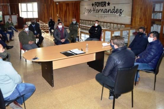 Biss se reunió con el Comité de Emergencia