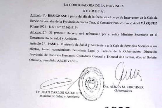 El Decreto firmado por la Gobernadora.