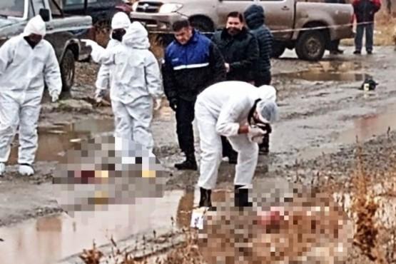 Personal policial trabajando en la escena