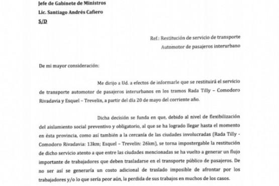 Restituyen el servicio interurbano Comodoro-Rada Tilly
