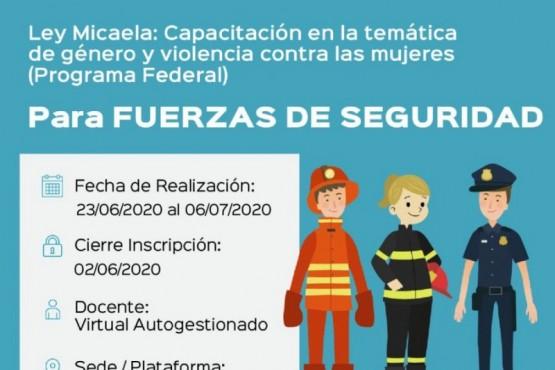 Ley Micaela para todas las aéreas de seguridad y de las fuerzas provinciales