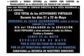 """Asociación de trabajadores docentes iniciaron paro """" virtual"""" por 48 horas"""