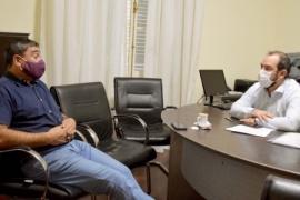 Grazzini recibió al presidente de la comuna rural de Paso del Sapo