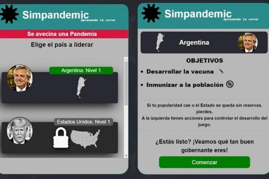 El juego en el que asumís el rol de Alberto Fernández para combatir la pandemia