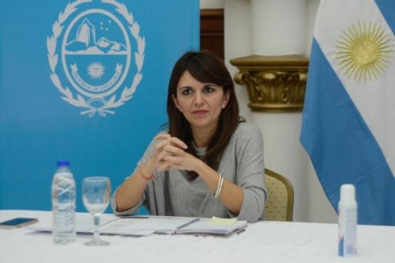 La Ministra Silvina Córdoba.