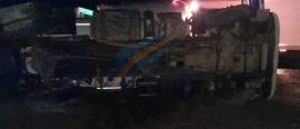 Volcó un camión transportador de gas sobre la ruta 3 en cercanías a Tolhuin