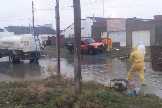 Las áreas de seguridad trabajan de manera conjunta tras las fuertes precipitaciones