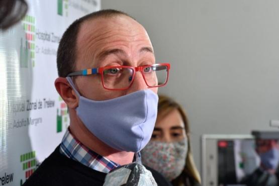 El director del Hospital Zonal de Trelew, Sebastián Restuccia